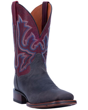 Dan Post Men's Winslow Western Boots - Wide Square Toe, Black, hi-res