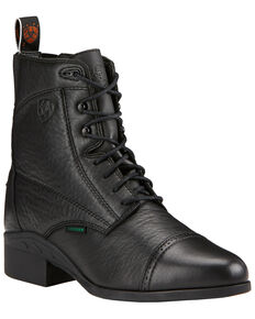 Ariat Women's Heritage Breeze Lace-Up Paddock Boots, Black, hi-res