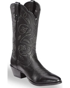 Ariat Men's Western Deertan Cowboy Boots - Medium Toe, Black, hi-res