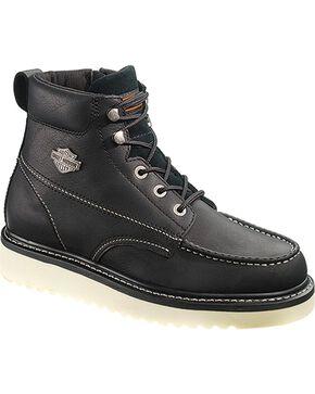Harley Davidson Men's Beau Lace-Up Boots, Black, hi-res