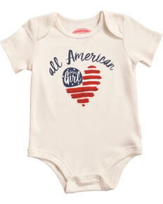 Farm Girl Infant Girls' All American Farm Girl Onesie, Ivory, hi-res