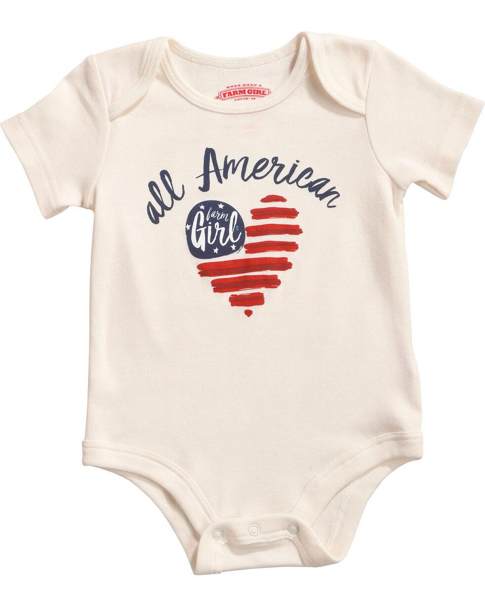 Farm Girl Infant Girls' All American Farm Girl Onesie, Ivory, hi-res