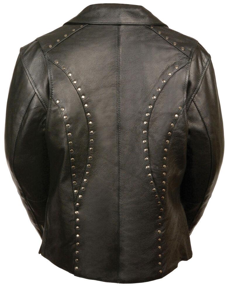 Milwaukee Leather Women's Classic Studded Motorcycle Leather Jacket, Black, hi-res