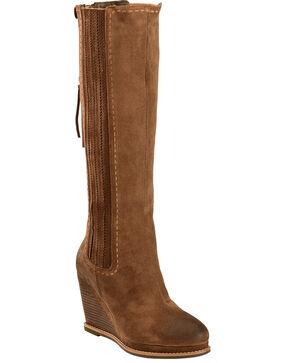 Ariat Moon Rock Ryman Wedge Cowgirl Boots - Round Toe, Tan, hi-res