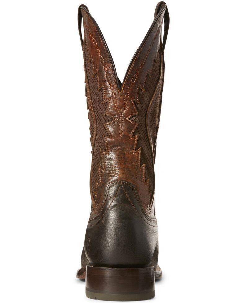 Ariat Men's Sienna VentTEK Western Boots - Wide Square Toe, Brown, hi-res