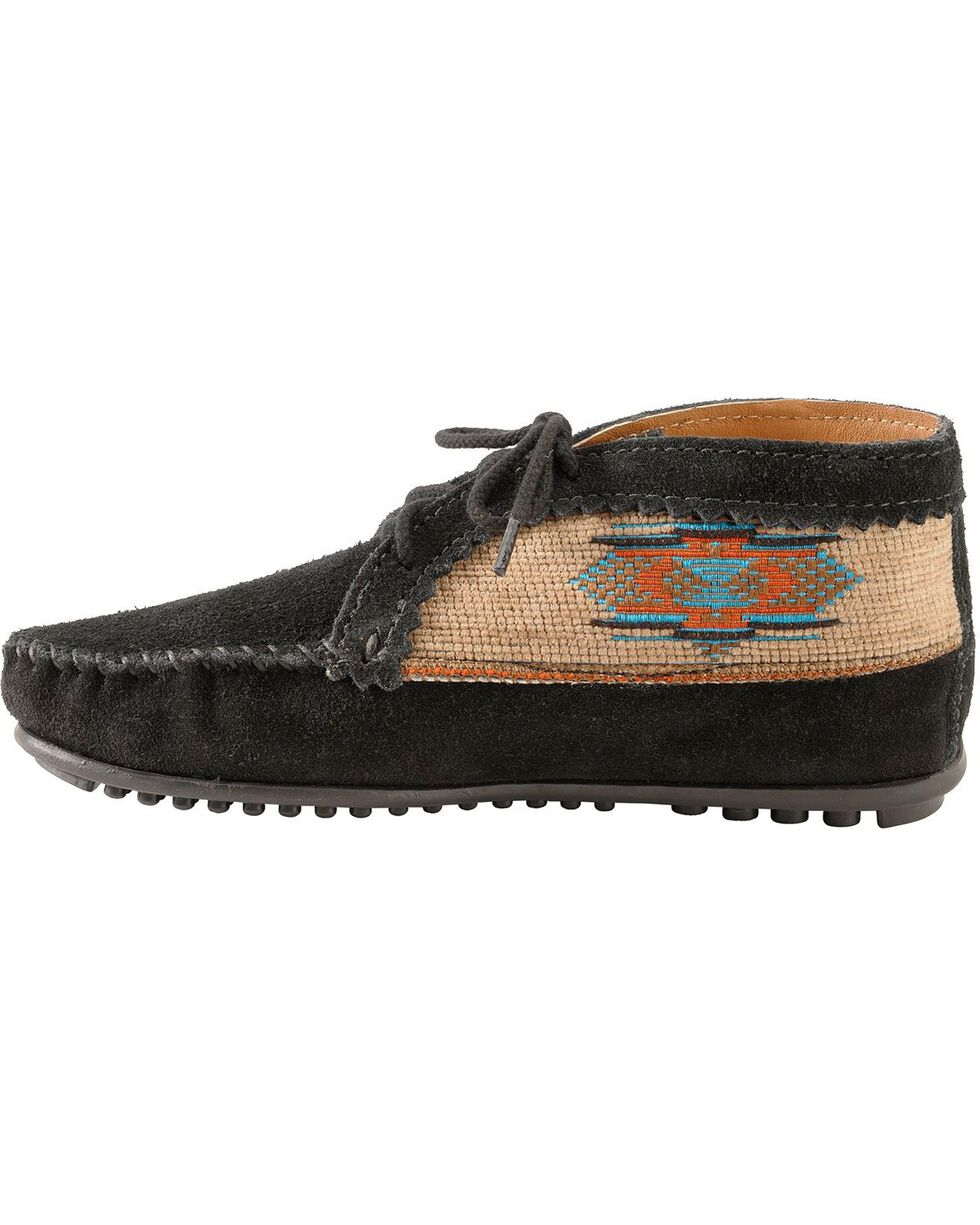 Women's Minnetonka El Paso Ankle Moccasin Boots, Black, hi-res