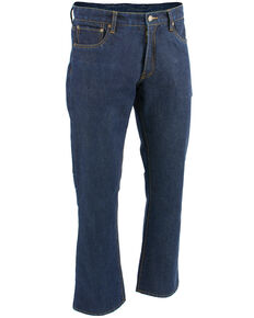 "Milwaukee Leather Men's Blue 34"" Aramid Infused 5 Pocket Loose Fit Jeans - Big, Blue, hi-res"