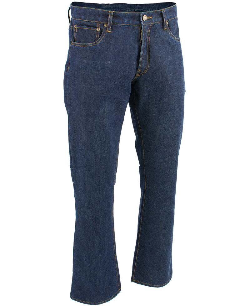 "Milwaukee Leather Men's Blue 34"" Aramid Infused 5 Pocket Loose Fit Jeans - Big, Blue, hi-res"