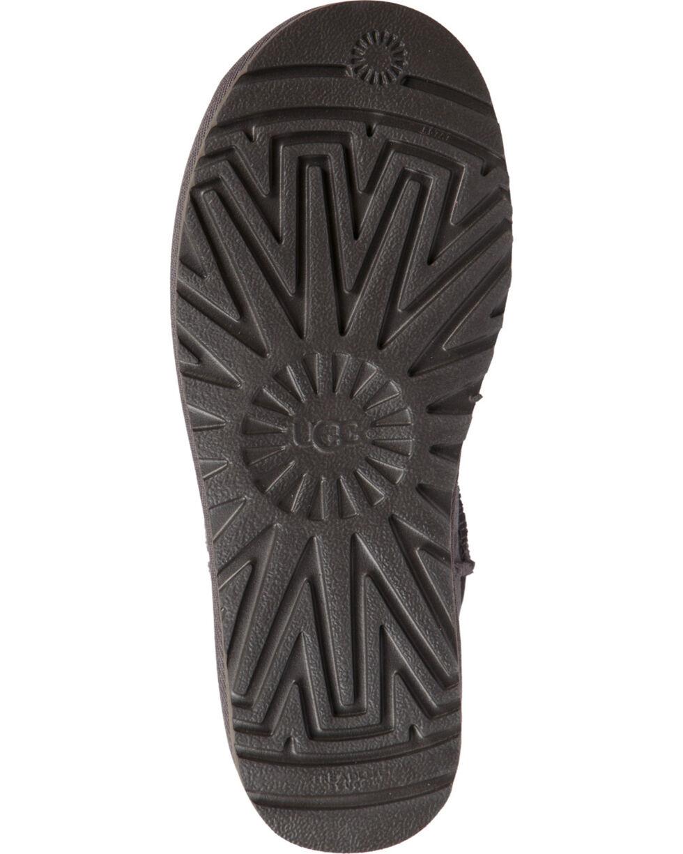 UGG Women's Grey Classic Short Rubber Boots , Black, hi-res