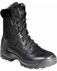 "5.11 Tactical Men's A.T.A.C. 8"" Storm Boots - Round Toe, Black, hi-res"