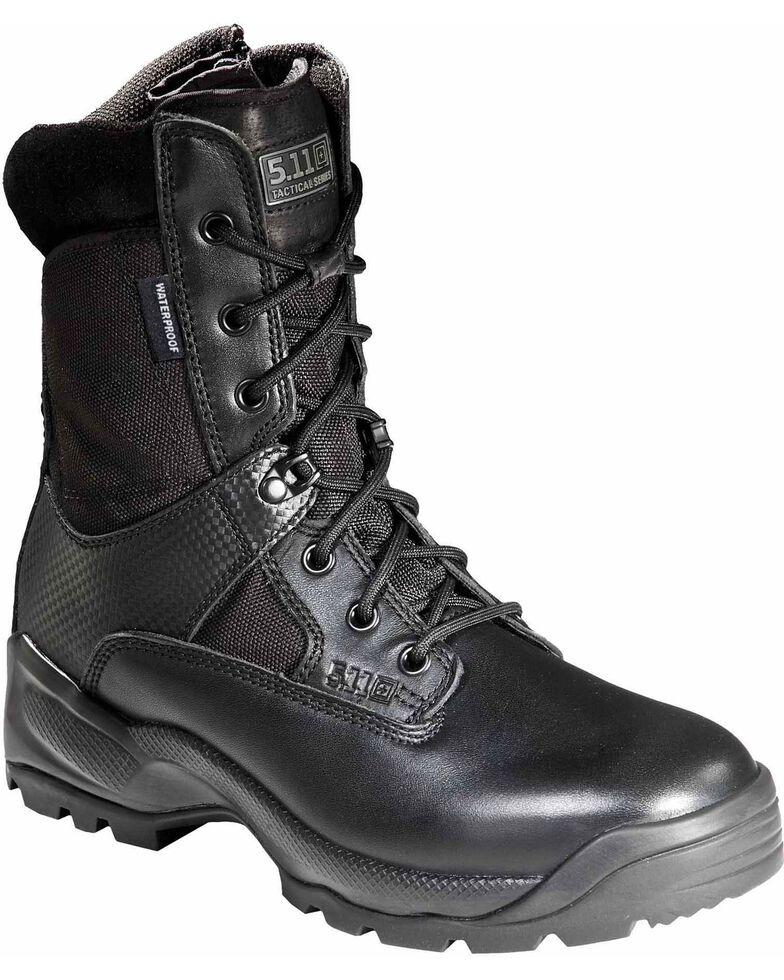 """5.11 Tactical Men's A.T.A.C. 8"""" Storm Boots - Round Toe, Black, hi-res"""