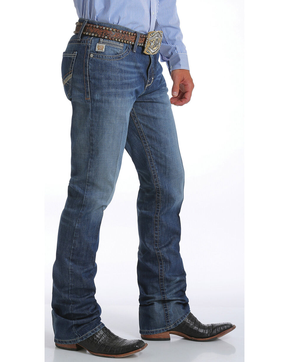 Cinch Men's Ian Medium Stonewash Jeans - Boot Cut, Indigo, hi-res