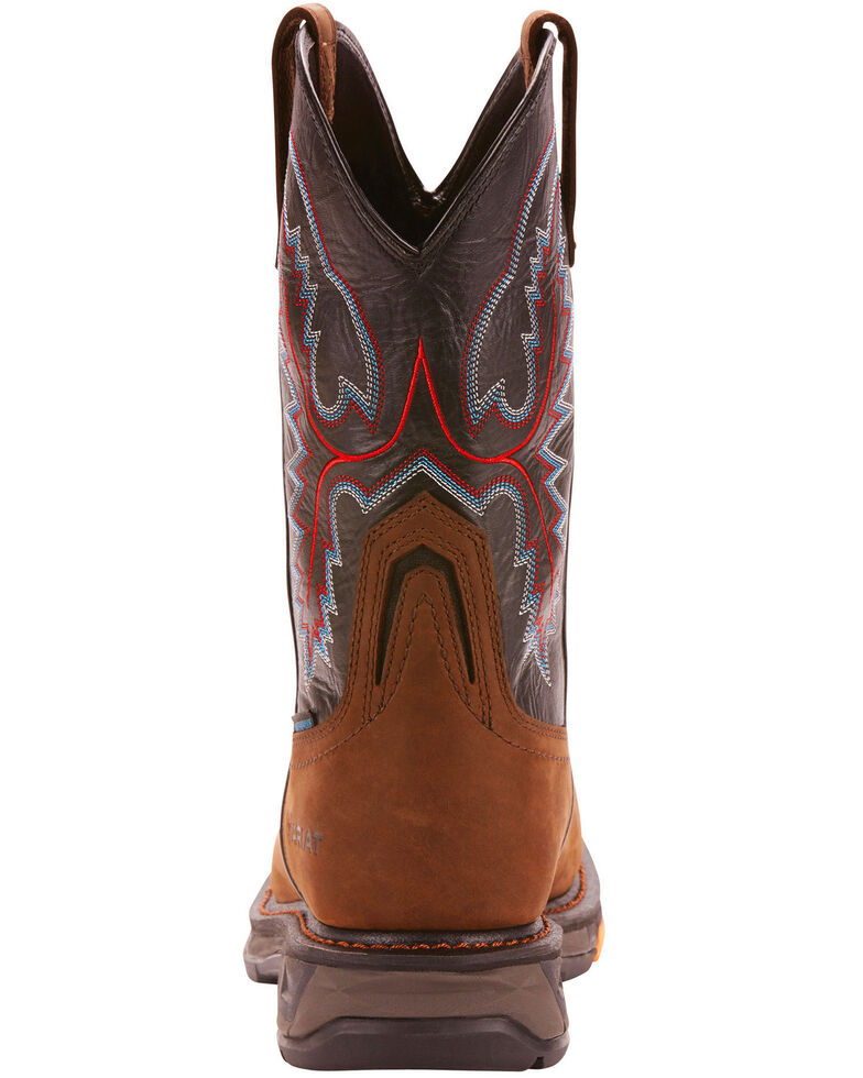 Ariat Men's Dark Brown Workhog XT H20 Boots - Carbon Toe, Brown, hi-res
