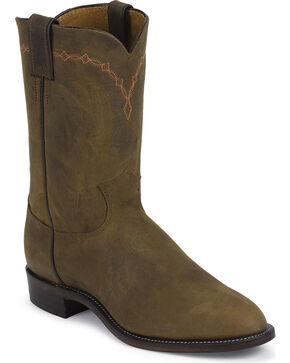 Justin Men's Bay Apache Classic Roper Boots, Bay Apache, hi-res