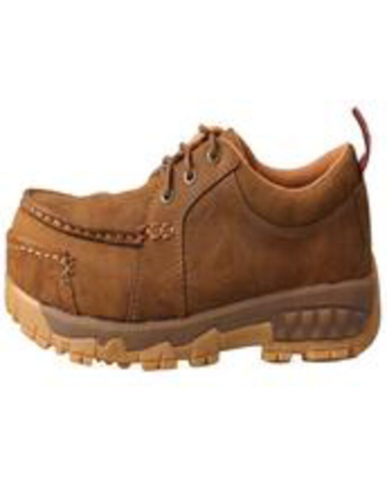 Twisted X Women's Comp Toe Work Shoes - Moc Toe, Tan, hi-res