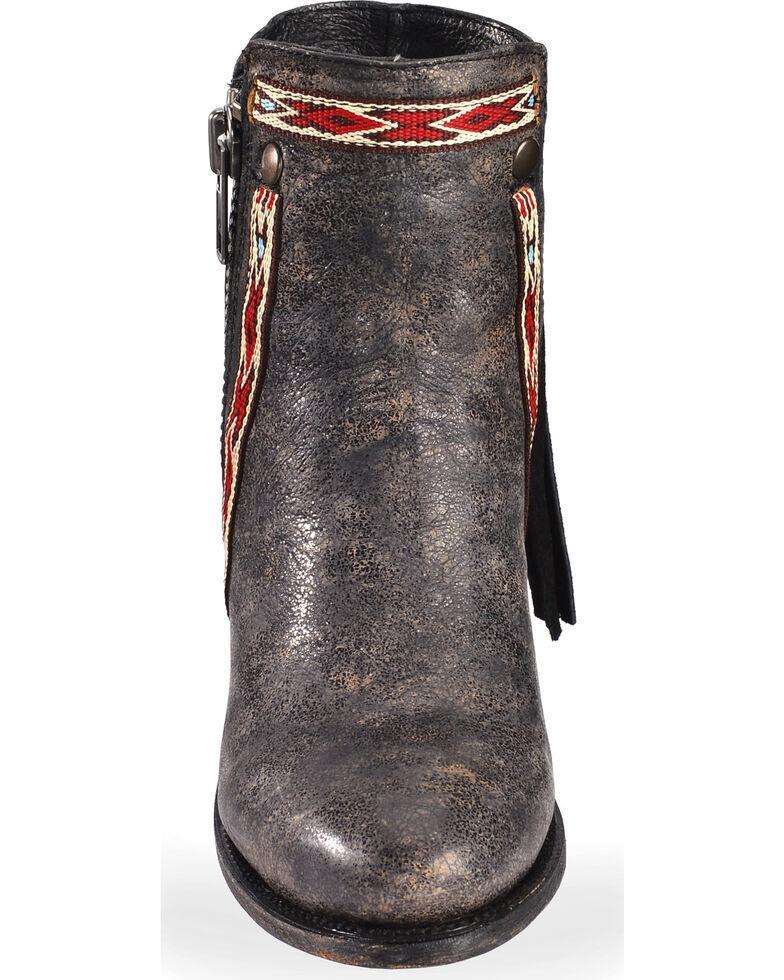 Corral Women's Fringe Ankle Booties, Black, hi-res