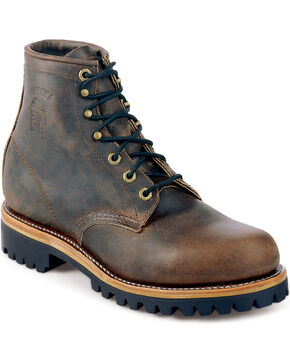 "Chippewa Men's Sportility 6"" Leather Work Boots, Sorrel, hi-res"
