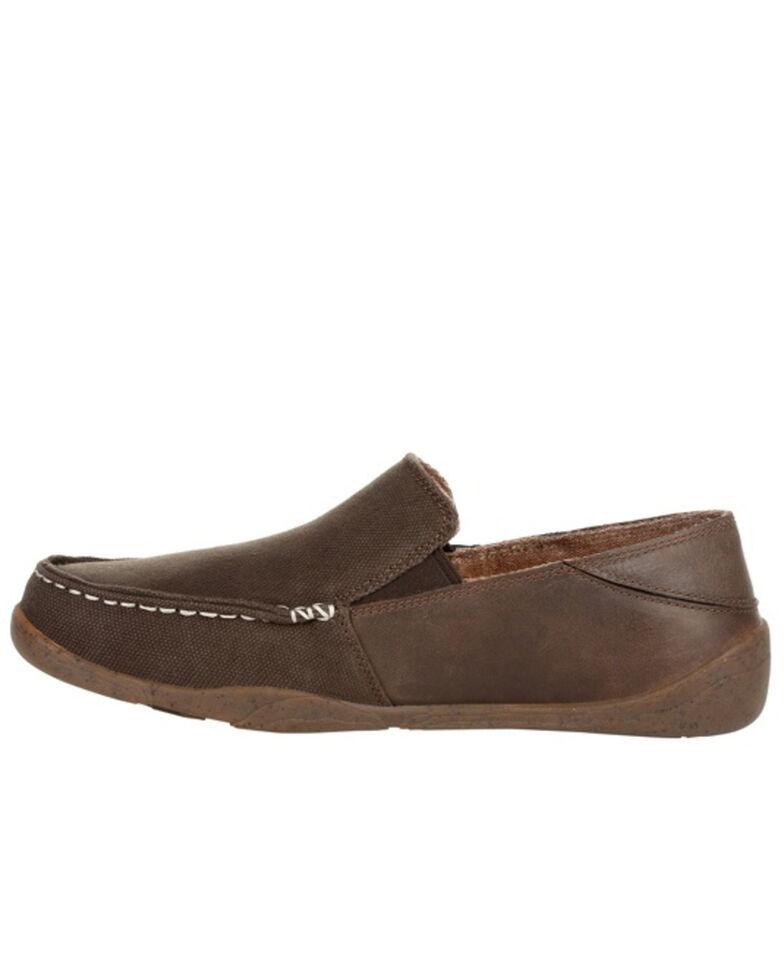 Georgia Boot Men's Cedar Falls Slip-On Shoes - Moc Toe, Brown, hi-res