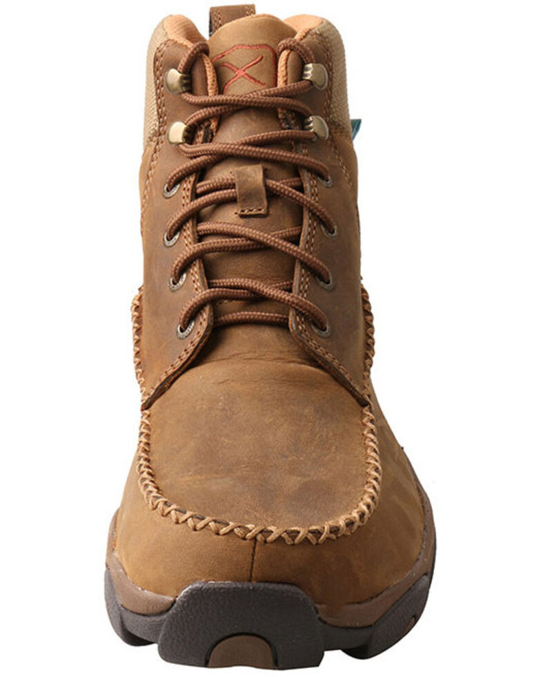 Twisted X Men's Distressed Saddle Hiker Boots - Moc Toe, Tan, hi-res