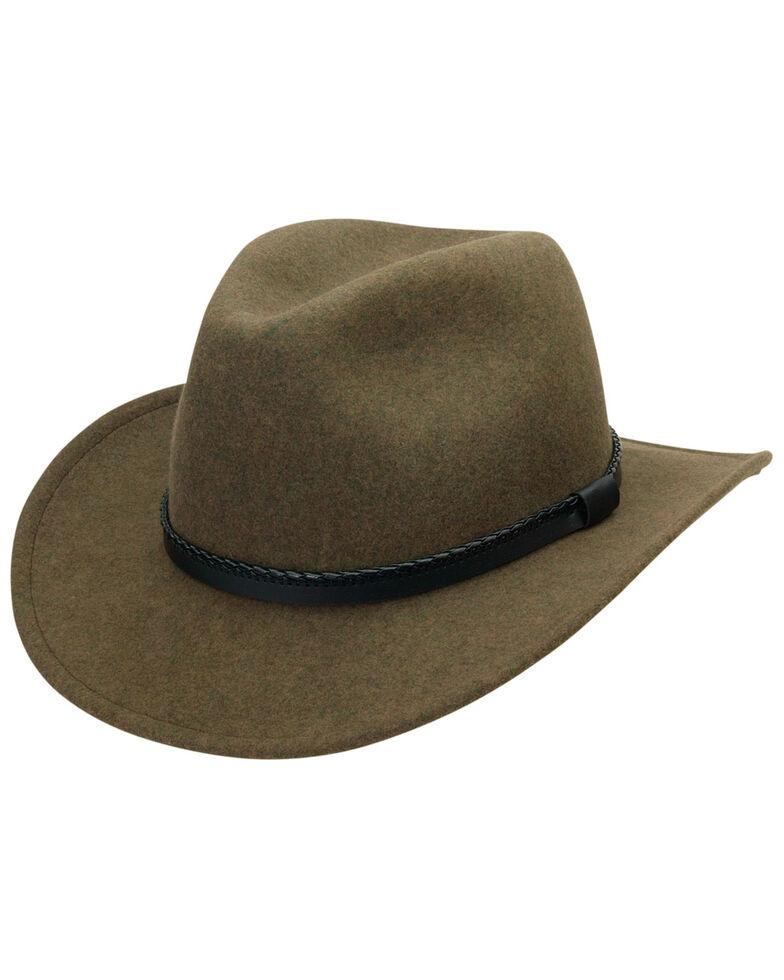 Black Creek Heathered Crushable Wool Men's Hat, Loden, hi-res