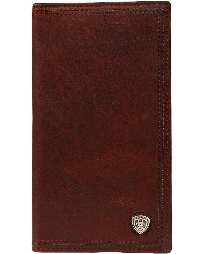 Ariat Logo Concho Rodeo Wallet, Copper, hi-res