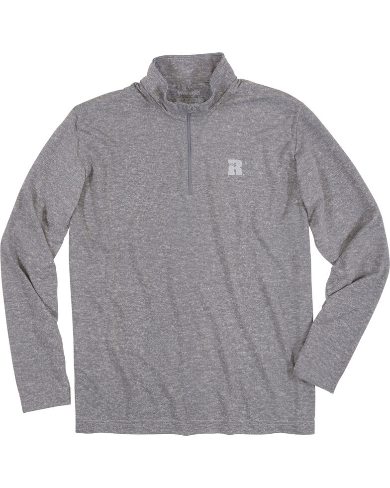 Wrangler Riggs Men's Olive Workwear 1/4 Zip Pullover Shirt - Big & Tall , Heather Grey, hi-res