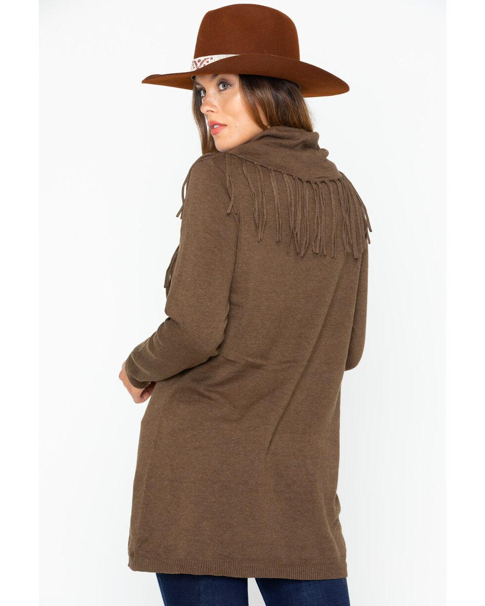 Tasha Polizzi Women's Thoroughbred Tunic Sweater, Brown, hi-res