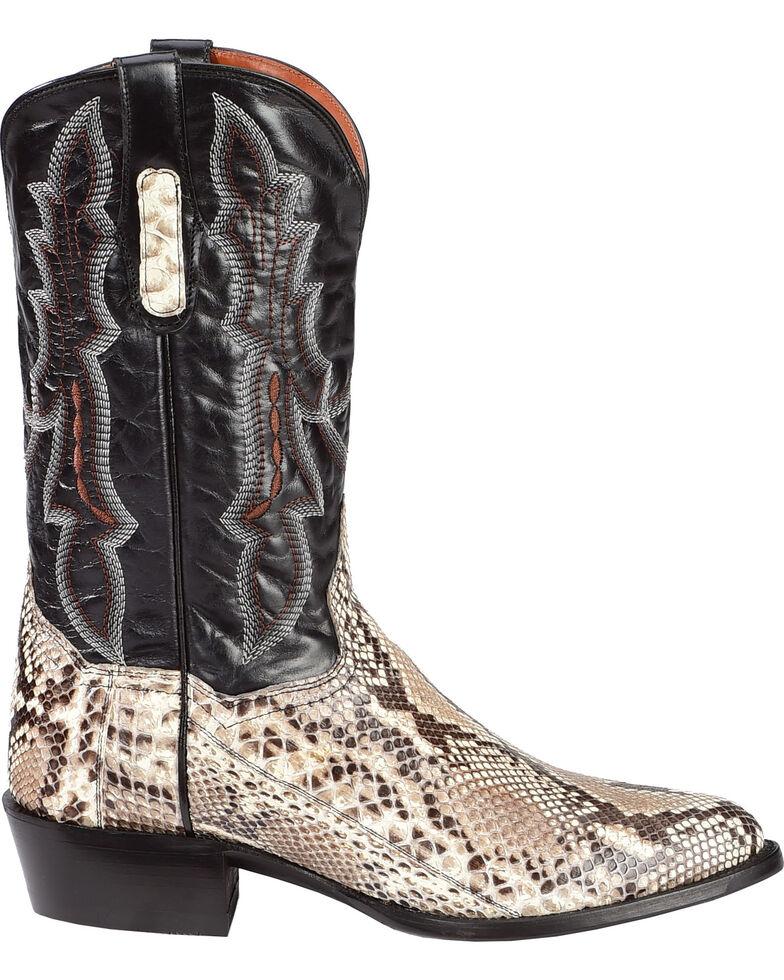 Dan Post Men's Natural Belly Cut Python Cowboy Boots - Medium Toe