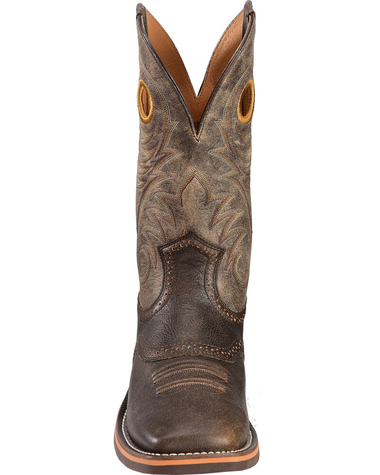 24bec96280a Ariat Men's Brown Heritage Roughstock Western Boots - Square Toe