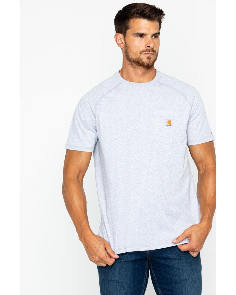 Carhartt Force Short Sleeve Work Shirt, Hthr Grey, hi-res