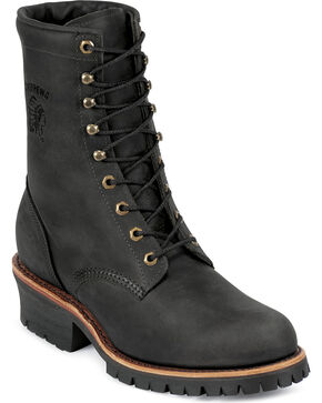 """Chippewa Men's  Odessa 8"""" Lace-Up Work Boots, Black, hi-res"""