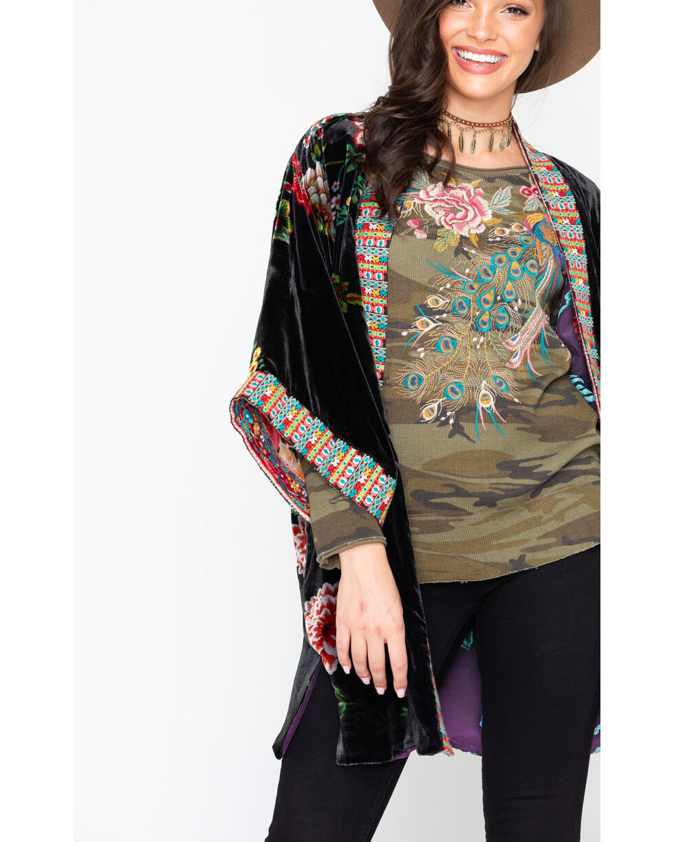 Johnny Was Women's Velvet Lined Kimono, Multi, hi-res