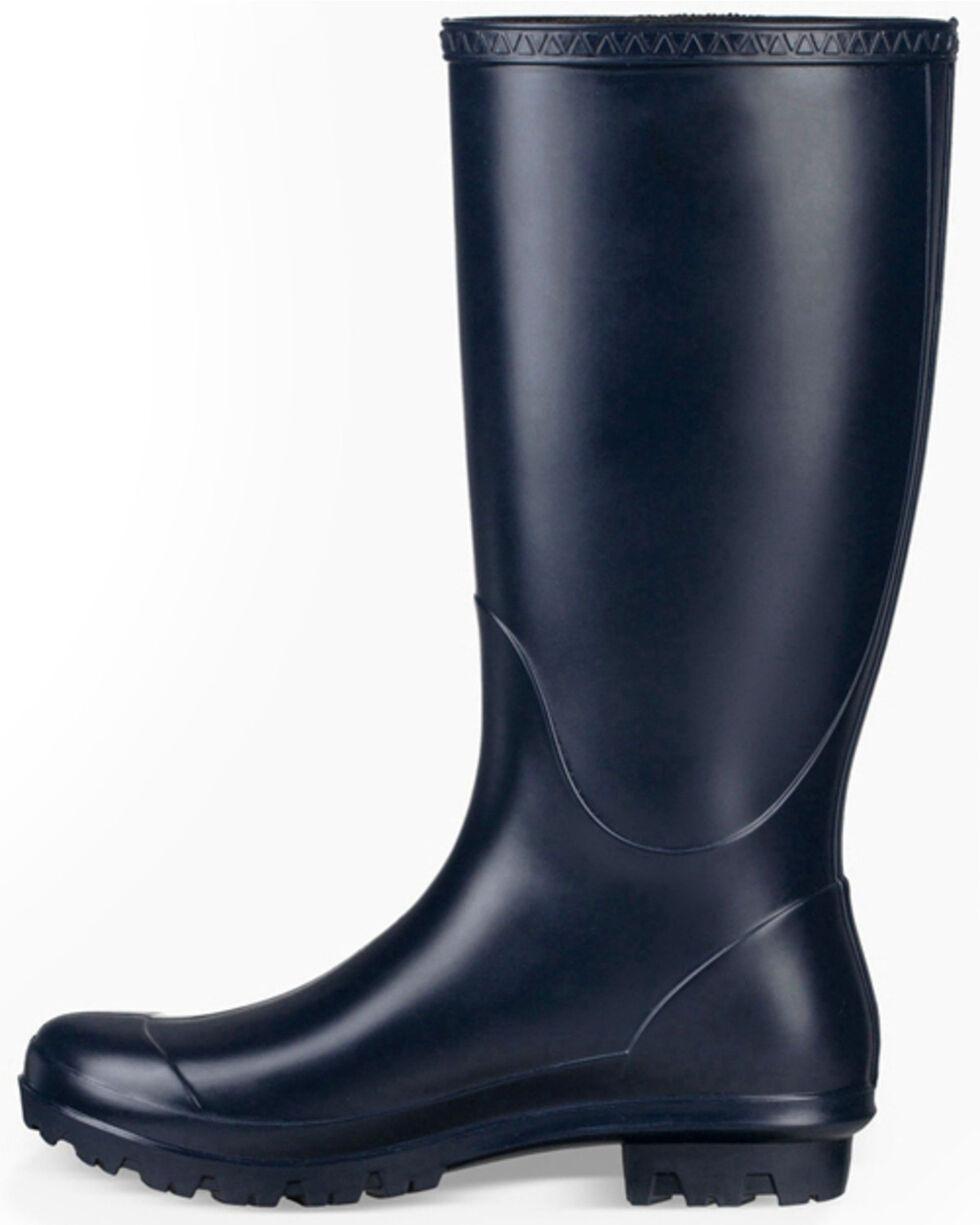 UGG Women's Shelby Matte Rain Boots - Round Toe, Navy, hi-res