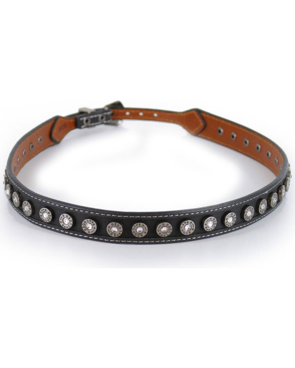 Cody James® Silver Conchos Hatband, Black, hi-res