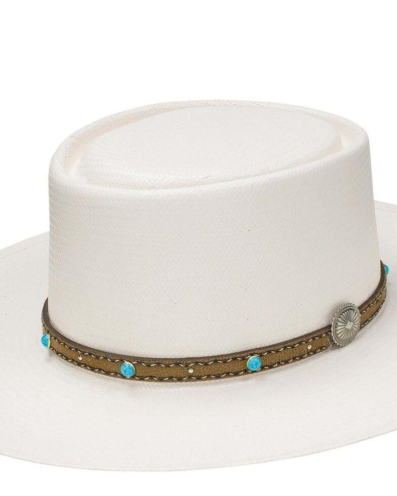 Stetson Natural 10X Gleeson Western Shantung Straw Hat , , hi-res