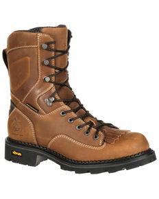 Georgia Boot Men's Comfort Core Waterproof  Logger Boots - Soft Toe, Russett, hi-res