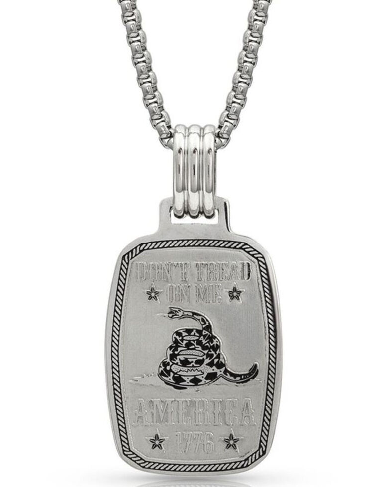 Montana Silversmiths Women's Don't Tread On Me Gadsden Necklace, Silver, hi-res