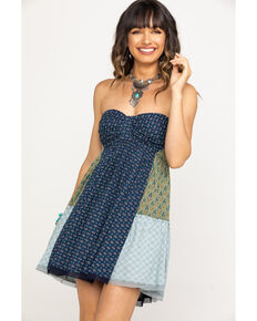 Free People Women's Across The Sea Tunic, Blue, hi-res