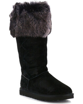 UGG® Women's Rosana Tall Boots, Black, hi-res