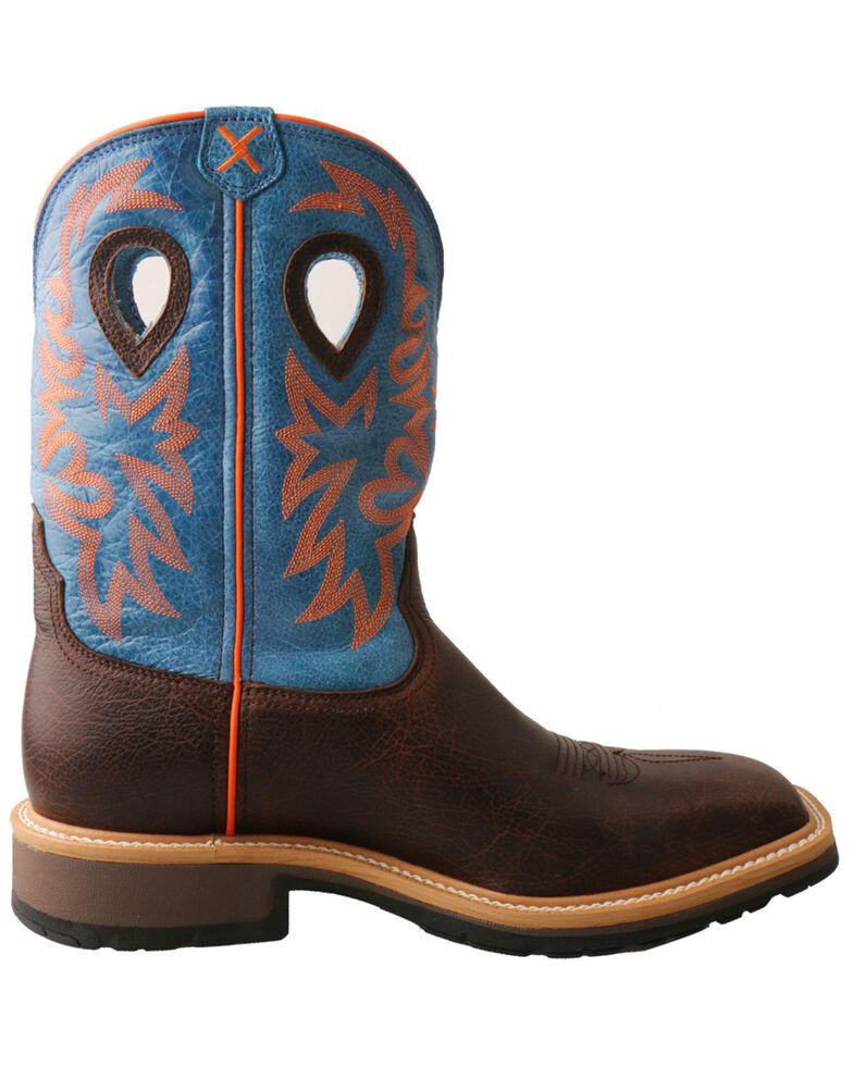 Twisted X Men's Brown Western Work Boots - Steel Toe, Dark Brown, hi-res