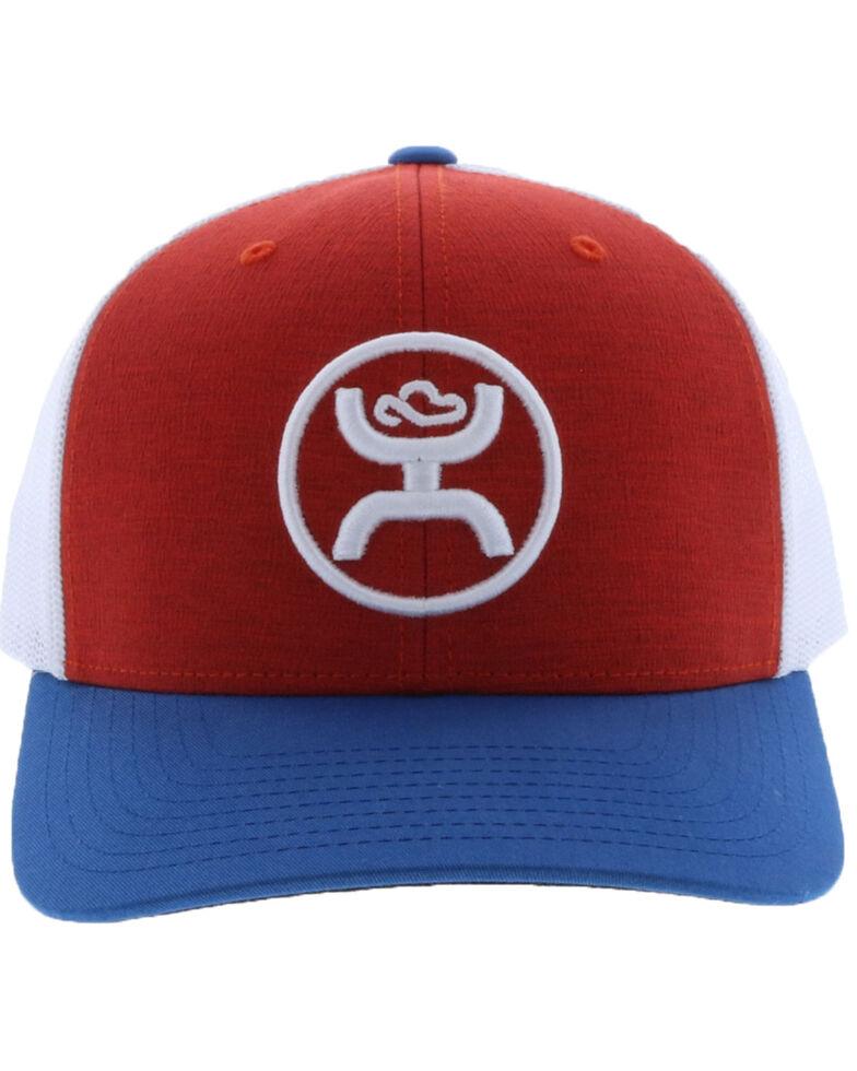 HOOey Men's Red O Classic Trucker Cap, Red, hi-res