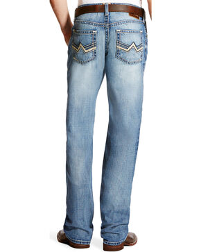 Ariat Men's M4 Bonner Low Rise Relaxed Fit Jeans - Boot Cut, Indigo, hi-res