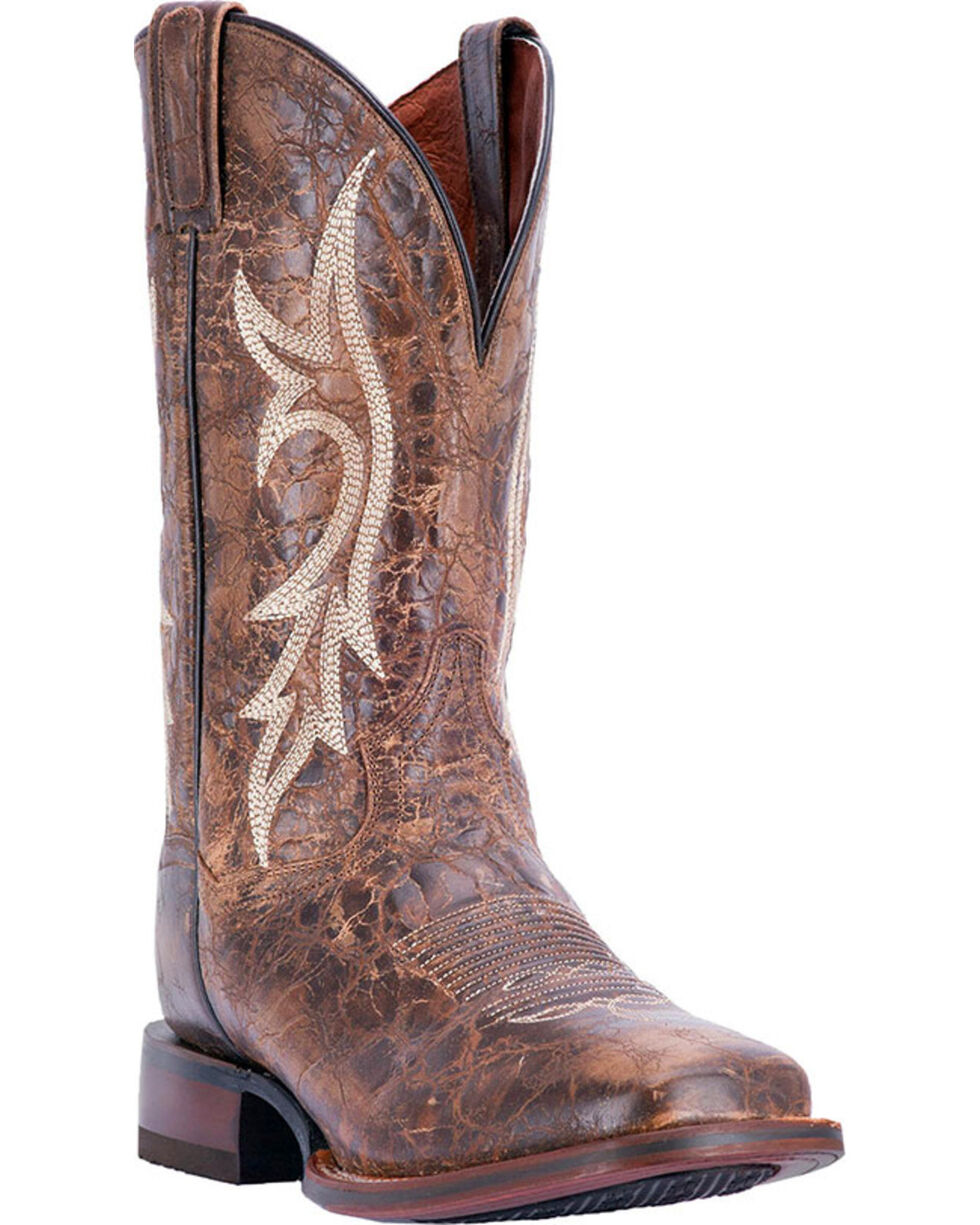 Dan Post Men's Distressed Junction Western Boots, Chestnut, hi-res