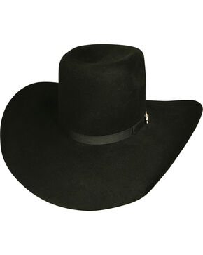 Bullhide Men's Chute Boss Black 8X Fur Cowboy Hat, Black, hi-res