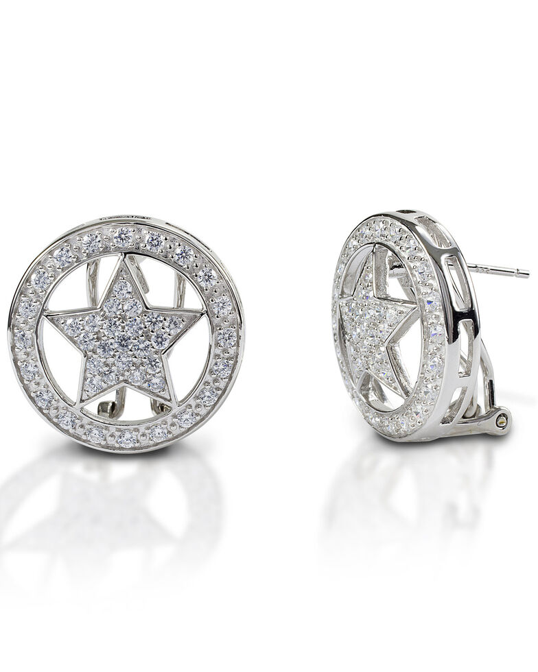 Kelly Herd Women's Large Star Earrings , Silver, hi-res