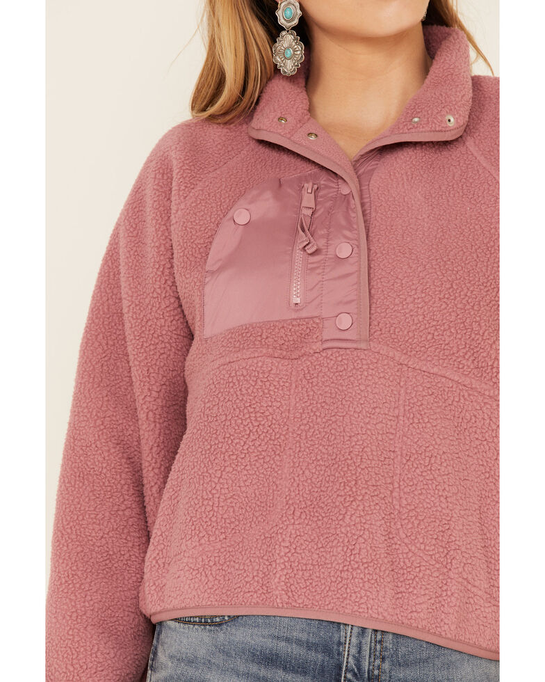 Free People Women's Hit The Slopes Pullover, Rose, hi-res
