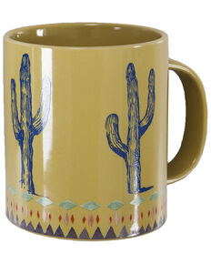 HiEnd Accents Cactus Border Design Mug Set, Yellow, hi-res
