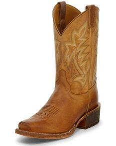Justin Men's Navigator Tan Western Boots - Square Toe, Tan, hi-res