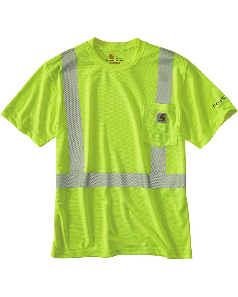Carhartt Force High-Viz Short Sleeve Class 2 T-Shirt - Big & Tall, Lime, hi-res