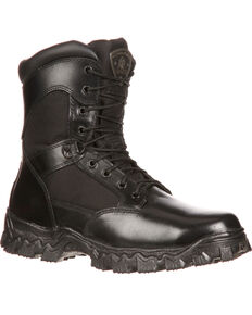 Rocky Men's Alpha Force Waterproof Insulated Duty Boots, Black, hi-res